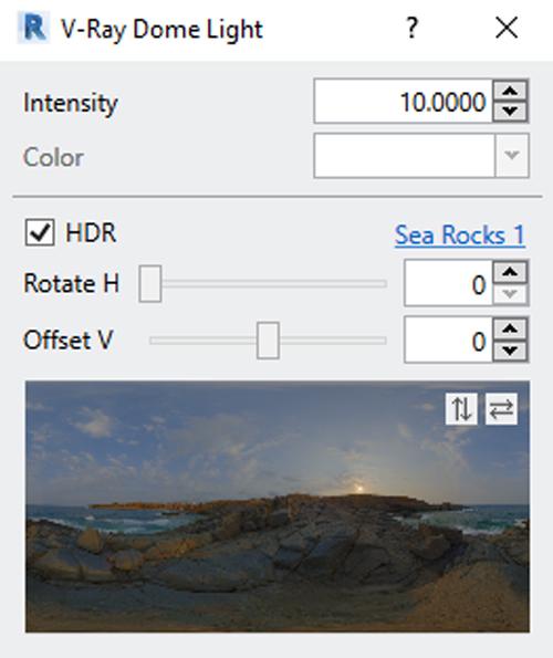نورپردازی حرفه ای با تصاویر HDR در وی ری رویت Revit Vray