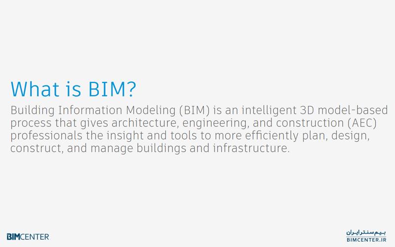 یک تعریف از فناوری بیم BIM