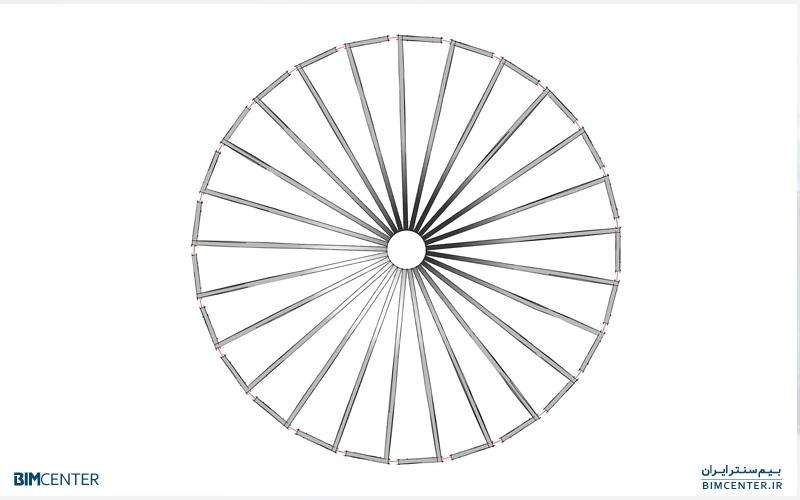 ترکیب ابزار Wall Edit Profile و Array در رویت Revit