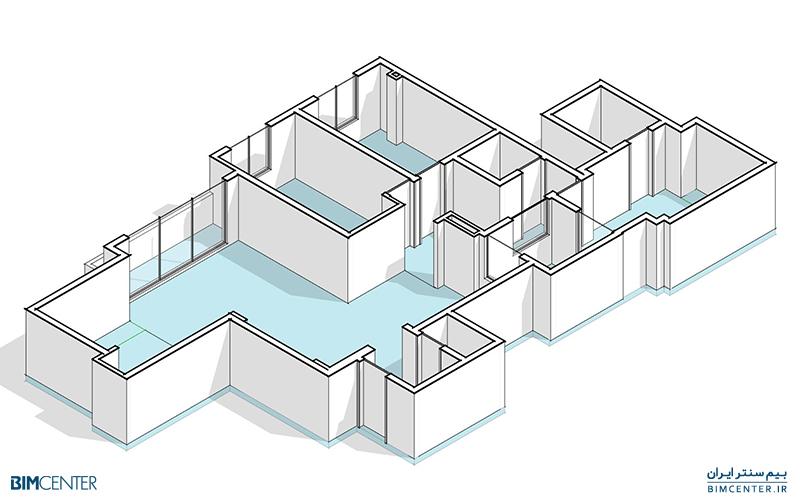 مدلسازی سه بعدی پلان معماری با رویت Revit