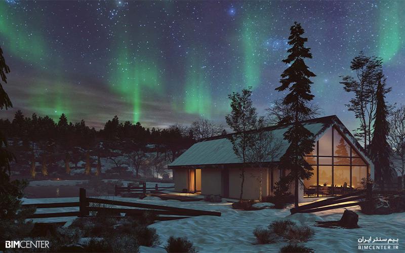 فضای برفی در Lumion