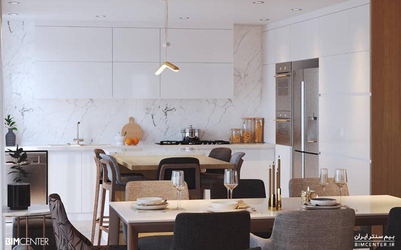 طراحی آشپزخانه با رویت