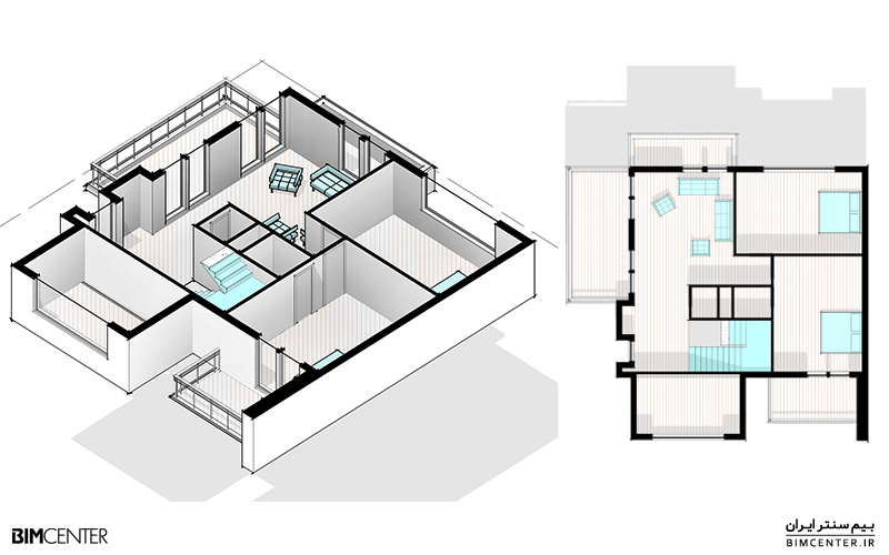 ساخت برش سه بُعدی Revit 3D Section